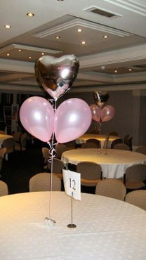 globos centros de mesa boda