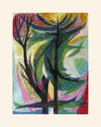 """""""Pflanzen abstrakt"""", 2014, Mischtechnik 30 x 40cm"""