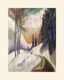 """""""Winterlandschaft"""", 2015,  Mischtechnik 30 x 40cm"""