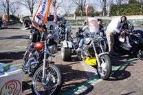 バイク展示・写真撮影