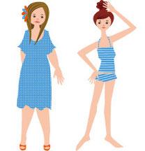 20代女性のイラスト