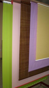 Diferentes tipos de cortina y estor.