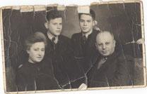 Cilly und Isaac mit Sigi und Herman