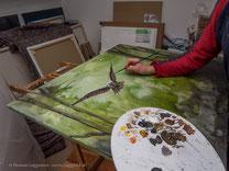 Feine Malerei in Acryl von Thomas Guggemos