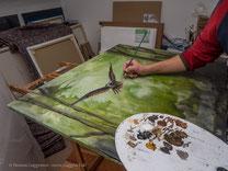 Pinselstriche werden feiner, Acrylmalerei von Thomas Guggemos