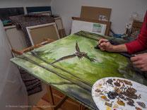 Das Acrylgemälde ist fast fertig, Thomas Guggemos
