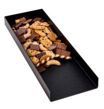 Gebäckschütte, 1 Fach, offen, Premium-Kunststoff, schwarz, gefüllt mit Plätzchen, Artikel 9903100, FMU GmbH, Gebäckschütte, Plätzchenschütte