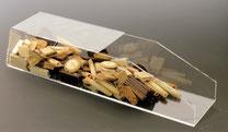 Gebäckschütte, 1 Fach, offen, aus transparentem Acryl, gefüllt mit Plätzchen, Artikel 9411009, FMU GmbH, Gebäckschütte, Plätzchenschütte