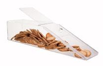 Gebäckschütte, 1 Fach, mit Schiebedeckel, aus transparentem Acryl, gefüllt mit Plätzchen, Artikel 9411012, FMU GmbH, Gebäckschütte, Plätzchenschütte