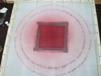 peinture rose, cire, peinture foncée,...