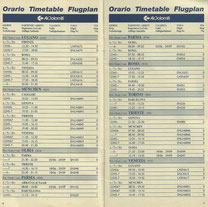 Orario ufficiale Air Dolomiti 1995