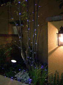 クリスマスイルミネーション 取付施工事例 東京都小平市 美容室ビーンズ様 横浜スイートクリスマスカンパニー