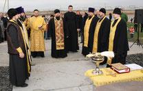 16 марта 2013 г. Молебное пение на месте строительства Пантелеимоновского храма