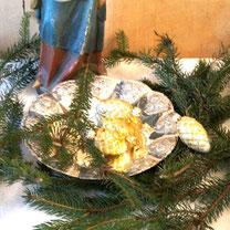 weihnachtsschmuck zapfen shabby vintage