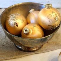 vintage weihnachtskugeln shabby