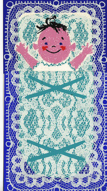 Card for the Birth of Matthias Traimer, made by his father Heinz Traimer in 1963.