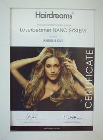 Bild: Zertifikat für Hairdreams Haarverlängerungen