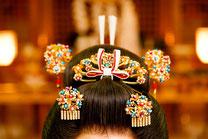 日本 北海道 和装のお鬘