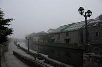 日本 北海道 小樽 Fog of canal
