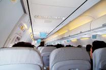 飛行機の機内2