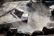 日本 北海道 札幌 温泉街の足湯