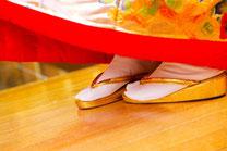 日本 北海道 結婚式 和装 新婦の足元