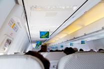 飛行機の機内3