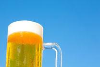 青空とビール1