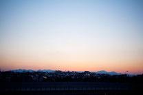 夕日と共に消える住宅街