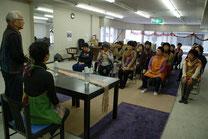 城英二先生の講演を聞いています。