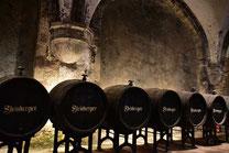 Blick in den Weinkeller des Klosters