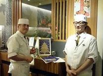 ↑神戸にも支援の輪が 日本料理 櫂