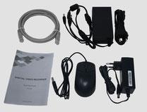 Lieferumfang Zuehör zu HDCVI 2MP Videoüberwachungsset, lieferbar über SafeTech