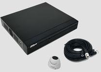 HDCVI, Videoüberwachungsset, 2MP, FullHD, Mini Dome, 4-Kanal DVR, Digitalvideorekorder, günstig, über SafeTech lieferbar