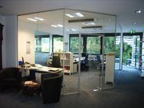 Raumteiler von der Glaserei Boog im Ruhrgebiet