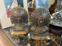 Pair Indian Head Bookends $29.00