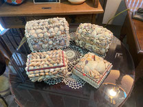 Antique SeaShell Boxes $30-42.00 each  (This booth now has a 25% Off Sale in effect.)