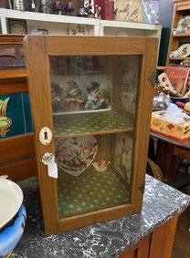 Antique Glass Door Small Cabinet $124.00