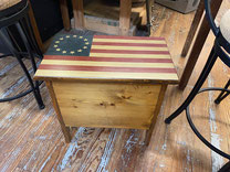 Storage Box with Flag  $55.00