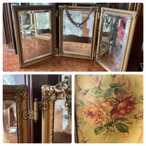 Vintage Folding Mirror with Chain $75.00