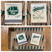 Vintage Matchbooks from Andrews Cafe in Hillsboro $1.95 each book