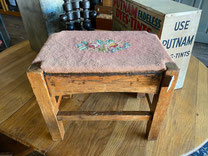 Needlework Topped Stool $35.00