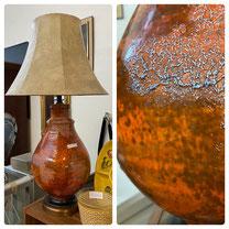 Mid-Century Orange Table Lamp $39.00