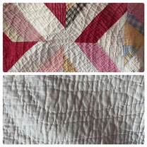 Multi-Colored Strips in Blocks Quilt $55.00