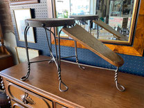 Shoe Shine Stand Metal Legs $145.00