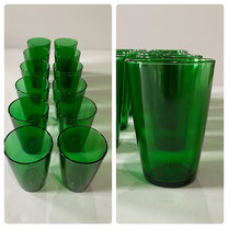 Anchor Hocking Green Tumblers  Each Set of Six $18.00
