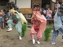 350年前から伝わる小中の獅子舞