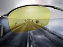 曇りの日/車内