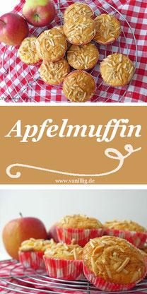 muffin, apfel, apfelmuffin, rezept, einfache rezept, backen