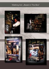 """Beast in the Box"" by HuWu   Auftraggeber: Safaripark Stukenbrock Gewicht: 30kg  Höhe 1,68m Extras: Nebelmaschine+ Bewegungs- / Soundeffekte"